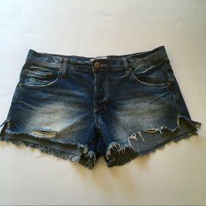Free people denim jean shorts